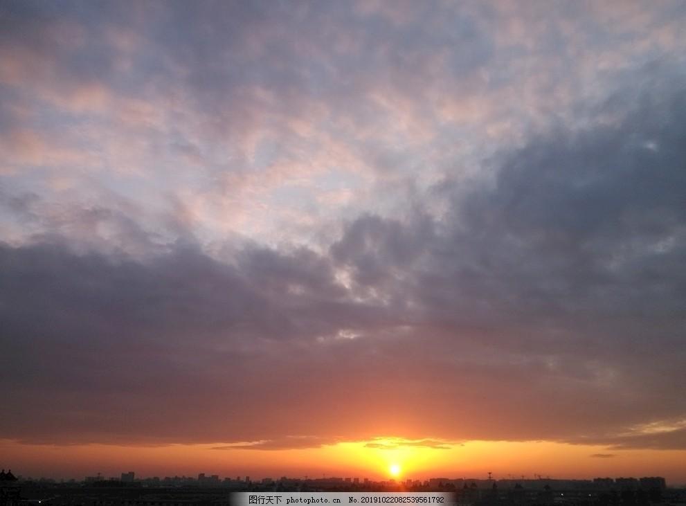夕陽,火燒云,杭州,筧橋,鐵路,建筑,攝影