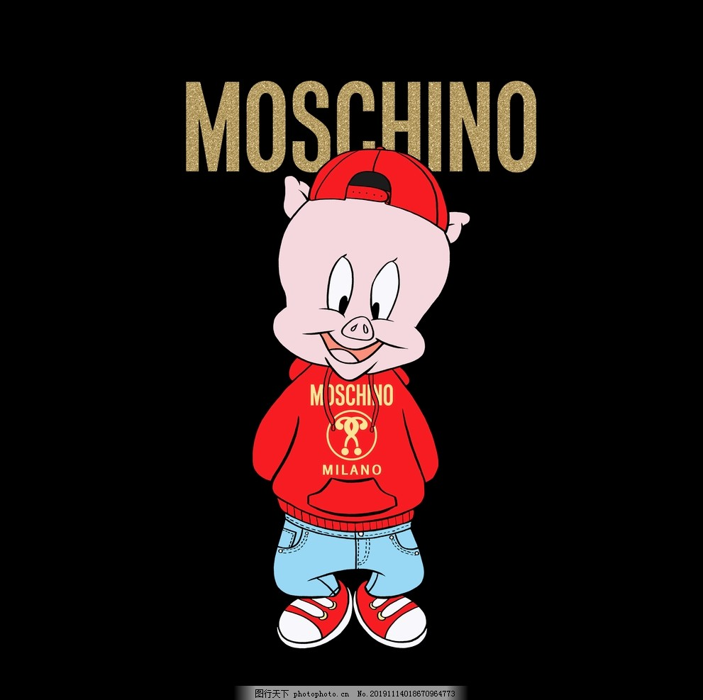 大牌卡通猪,莫斯奇诺,形象,IP,动漫,印花,设计